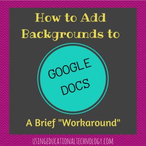 How to Add Backgrounds to
