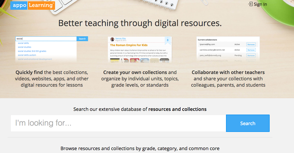 Curate and Share Educational Resources with Appolearning