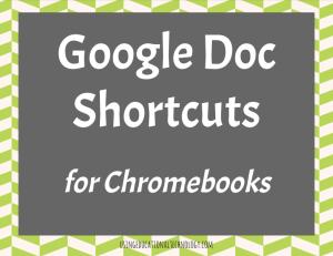 Google Doc Shortcuts