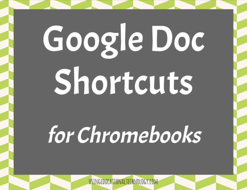 Google Docs Keyboard Shortcuts