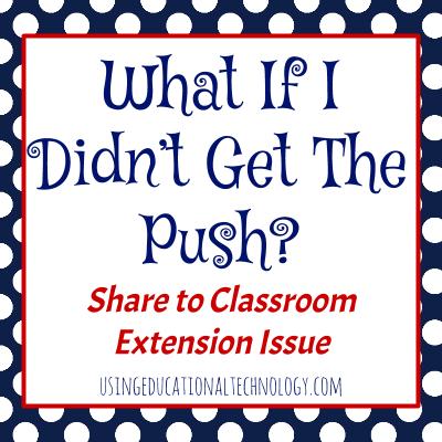 Google Classroom – Push to Students
