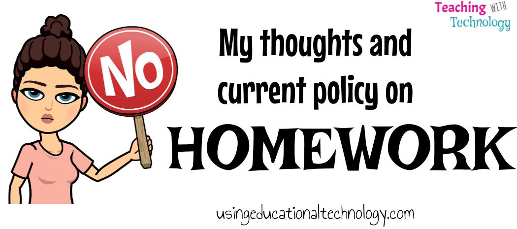 Homework – A few reasons why I don't assign it