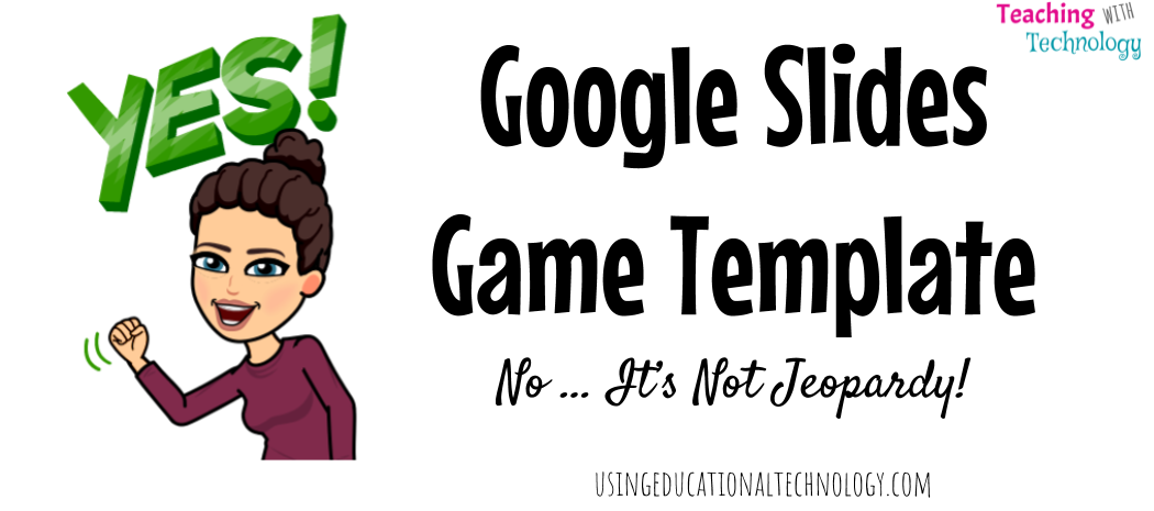 Google Slides Game Template – The United States Constitution