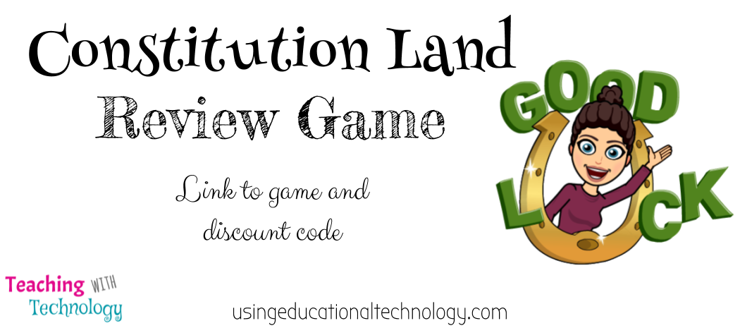 Constitution Land – Constitution Review Game w/Google Slides