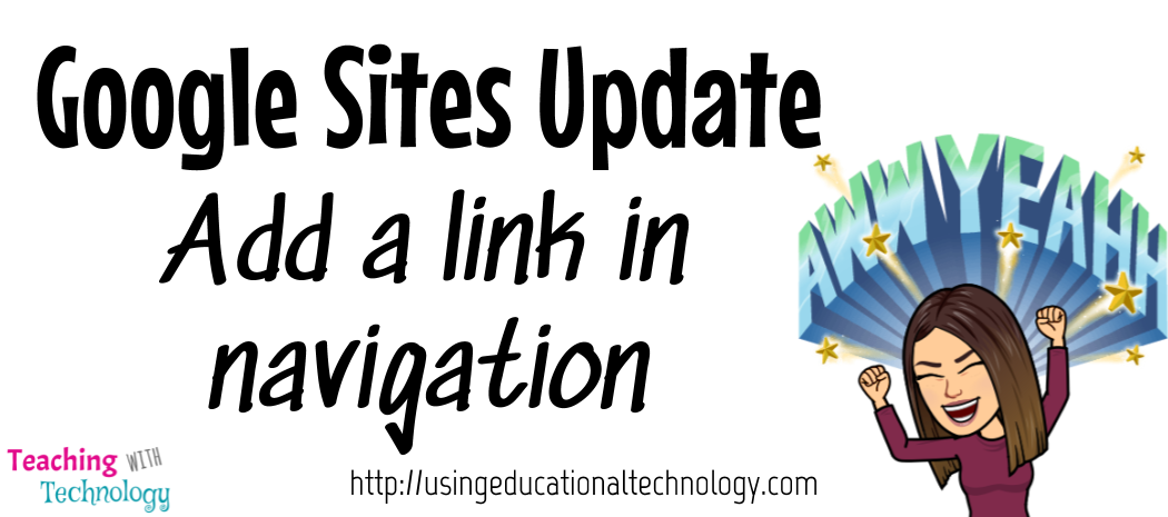 Google Sites – Add a link as a page