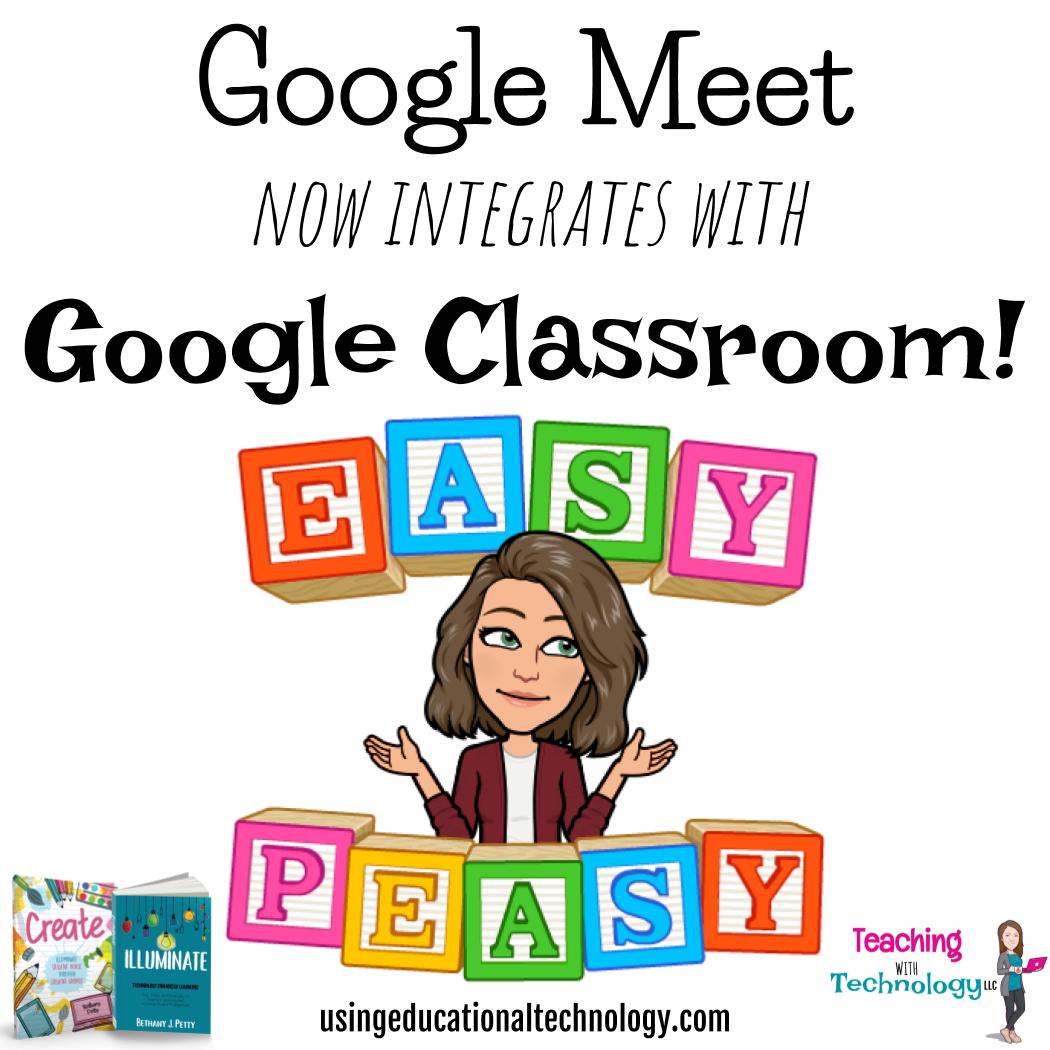 Google Classroom and Google Meet Integration