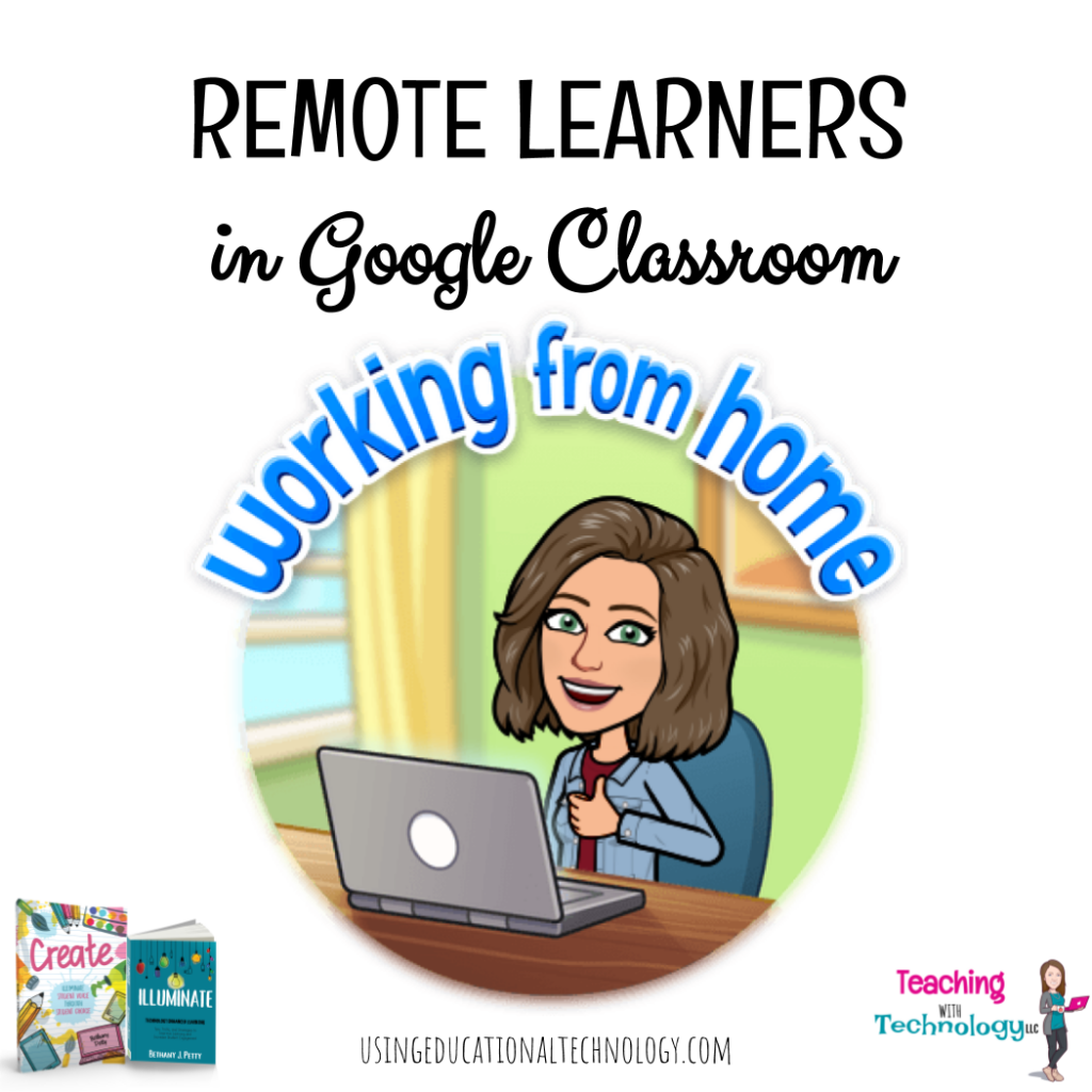 Remote Learning Students in Google Classroom